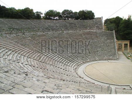 Awesome Ancient Theatre of Epidaurus, UNESCO World Heritage Site in Greece