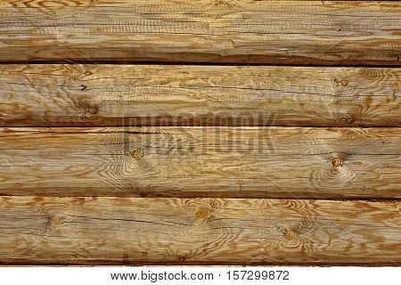 Modern Hand Hewn Natural Log Cabin Wall Facade Fragme