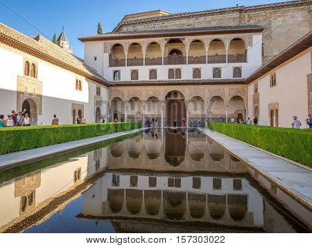 Granada Spain - 8th September 2016: The Alhambra Palace Granada Spain