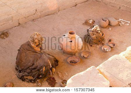Chauchilla Cemetery (Necropolis de Chauchilla) @Nazca, Peru