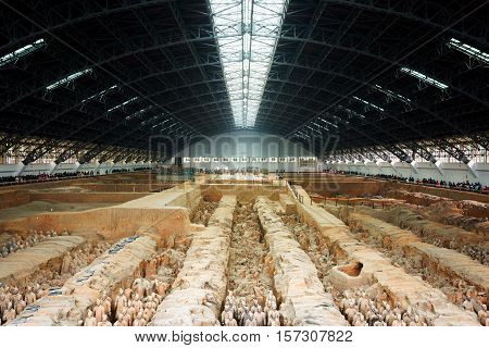 Main View Of The Terracotta Army, The Qin Shi Huang Mausoleum