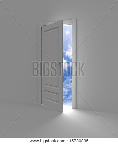 Door to sky, freedom etc