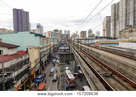 Lrt Railtrack In Manila, Philippines