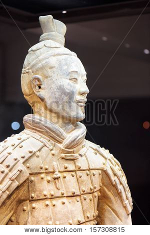 Closeup View Of Archer Of The Terracotta Army