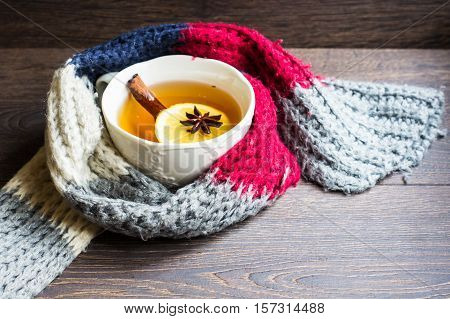 Spiced Tea In Cold Time