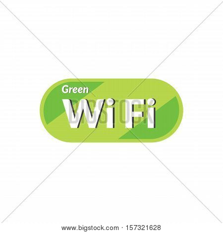Green Wifi Icon Is Basic Vector Icon, Eps10