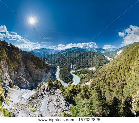 Rhine Gorge, Switzerland Grand Canyon From Il Spir