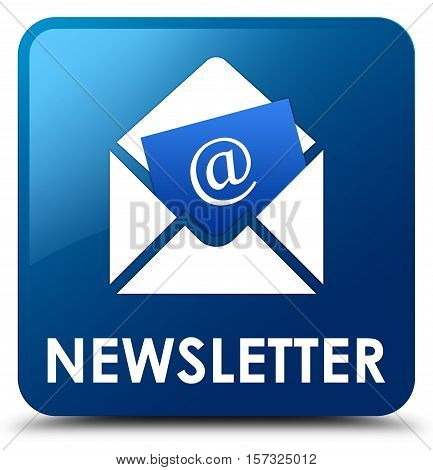 Newsletter (email icon) on blue square button