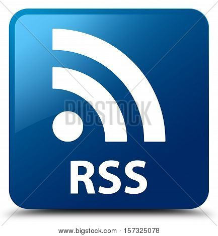 RSS (rss feed icon) blue square button