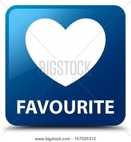 Favourite (heart icon) on blue square button
