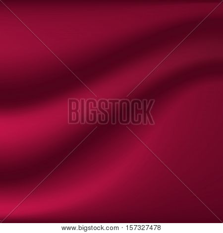 Abstract background. Drapery. Vinous satin fabric. vector illustration