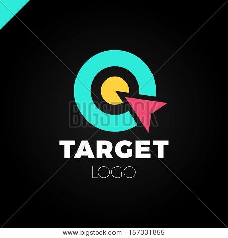 Target Hit Two Circle With Arrow Branding Identity Corporate Vector Logo Design Template Isolated