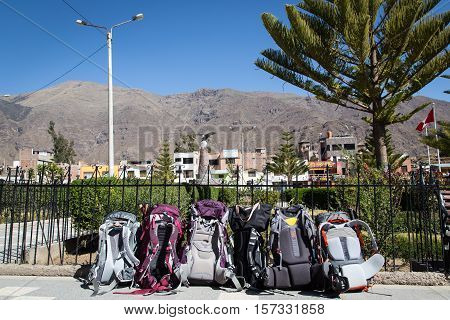 Backpacking to the town of Cabanaconde, Colca Canyon, Peru