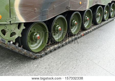The Caterpillar Track of a Military Tank