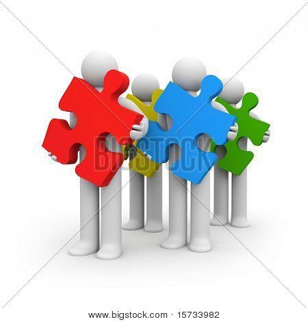 Zusammenarbeit und Entwicklung-Metapher