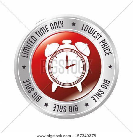 limited time only lowest price big sale clock alarm badge vector illustration eps 10