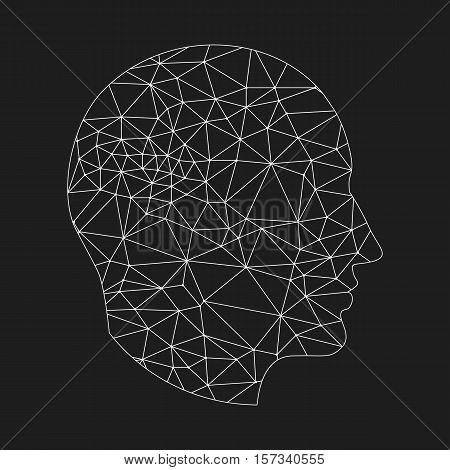 White Profile On Black