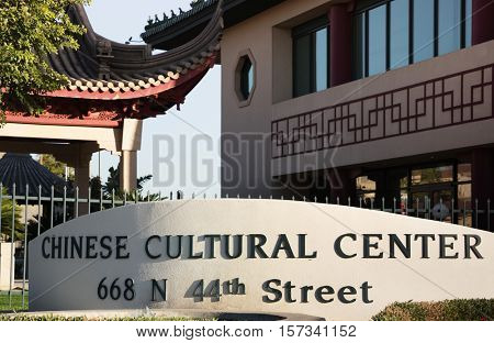 The Chinese Cultural Center, Phoenix,AZ, 11,15,16 a complex of buildings in Phoenix, Arizona. It was established in 1997 by the COFCO Group, a state-run enterprise of the People's Republic of China.
