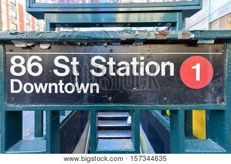 86 Street Station Subway - Nyc