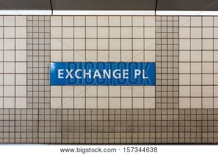 Exchange Place - Nj Path