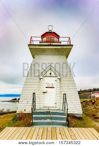 Lighthouse in Cap Enrage, New Brunswick, Canada