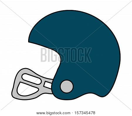 Helmet of american football icon. Sport hobby competition and game theme. Isolated design. Vector illustration