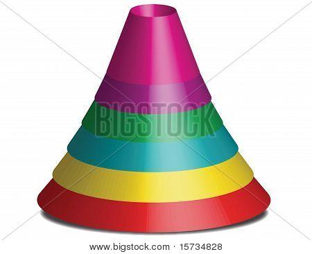 Baby cone pyramid toy