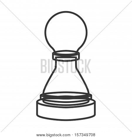 monochrome contour of figure pawn of chess vector illustration