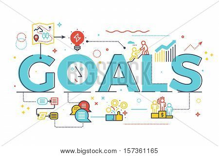 Goal Word In Business Concept
