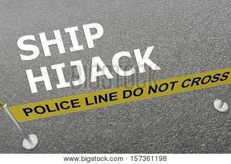 Ship Hijack - Criminal Concept