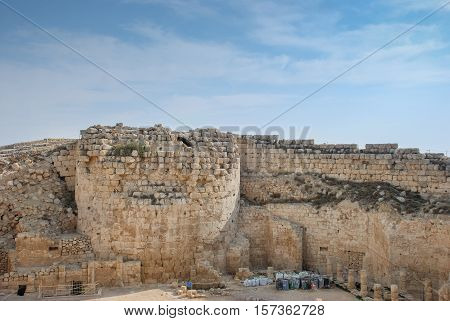 Ruins Of Herodium Or Herodion, The Fortress Of Herod, The Great, Israel