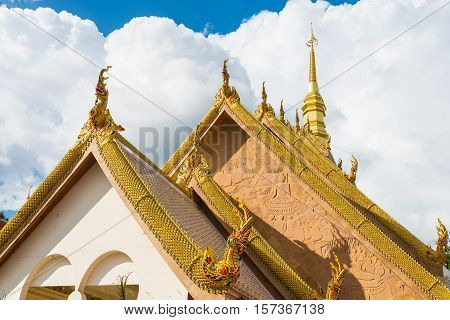 Beautiful Roof Of Temple