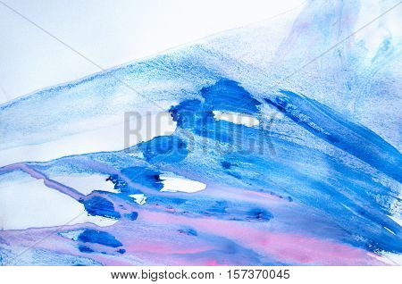 Creative abstract hand painted background wallpaper texture. Abstract composition for design elements. Close-up fragment of acrylic painting on canvas with brush strokes. Abstract art background.