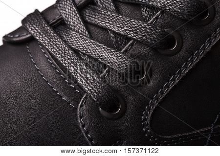 Part Of Black Men Shoes