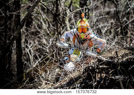 Khabarovsk, Russia - may 8: competitions hard Enduro Khekhtsirsky Ridge 8 may 2016 in Khabarovsk , Russia
