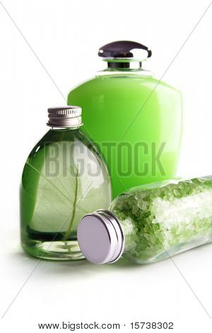 SPA cosmetics series. cosmetics bottles