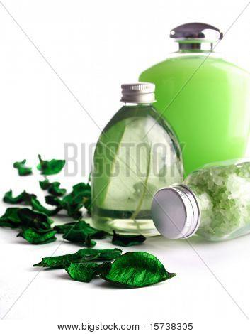 Spa Kosmetik Serie. Kosmetikflaschen