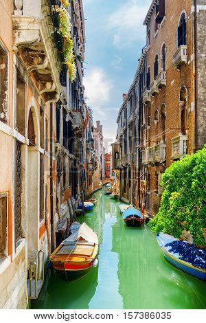 The Rio De S. Cassan Canal And The Ponte Delle Tette, Venice