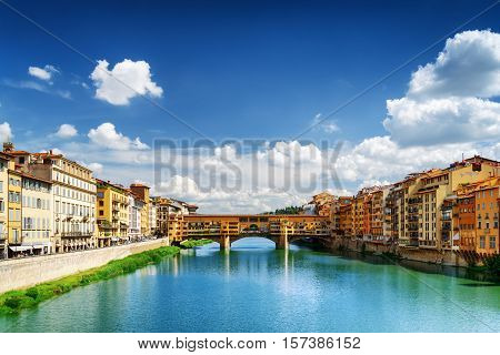 View Of The Ponte Vecchio And The Arno River In Florence, Italy