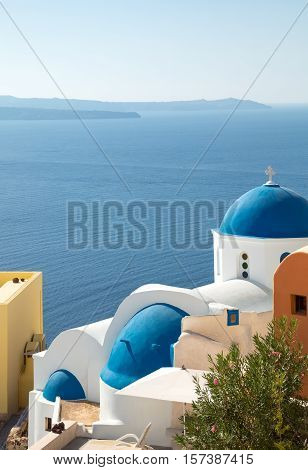 Greece Santorini island Oia traditional architectures of the village