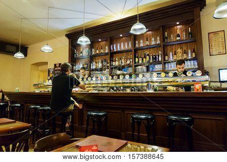 Bar In The Prague Beer Museum