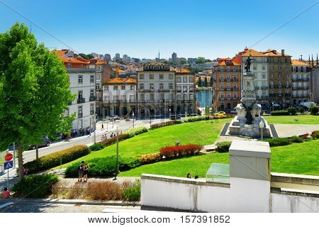 The Square Of Prince Henry, Infante Dom Henrique, In Porto, Portugal.