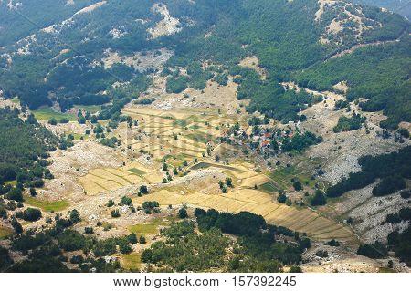 Aerial View On Mediterranian Village