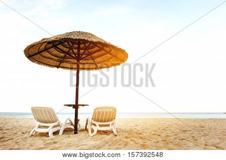 Sea Resort With Two Chaise-longues