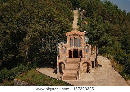 Krastova gora, near the village of Borovo, Rhodope mountain, Bulgaria