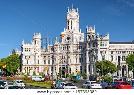 The Cybele Palace (palace Of Communication), Madrid, Spain