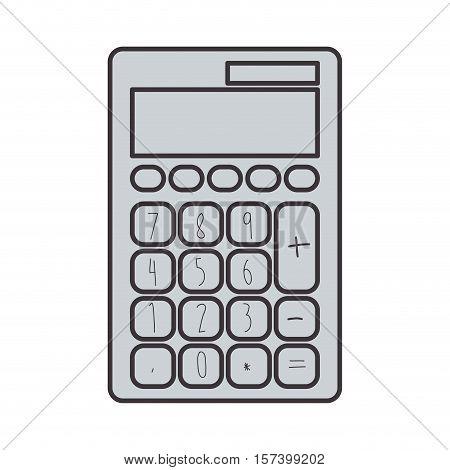gray silhouette tech with solar calculator pocket vector illustration
