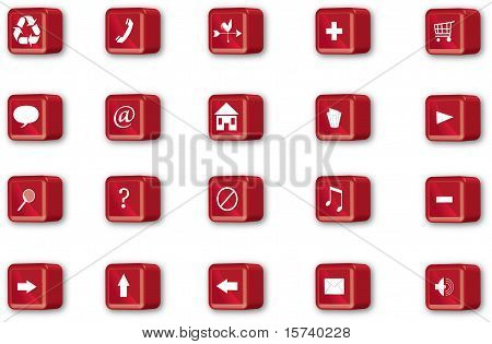 Red Navigation Icons