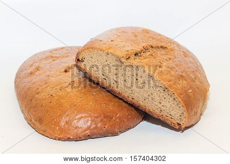 Loaf of traditional russian rye hearth bread