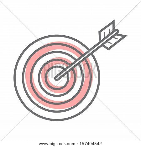 Target isolated on white background. Video marketing. Approaches, methods and measures to promote products and services based on video. Online video, internet technology and media social marketing